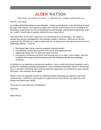 Sample Of Cover Letter Resume by Best Account Manager Cover Letter Examples Livecareer