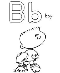 alphabet letter b coloring page boy jpg