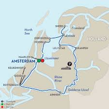 Holland Map Rivers Of The Netherlands Map You Can See A Map Of Many Places