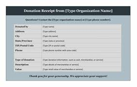 donation receipt template microsoft word templates