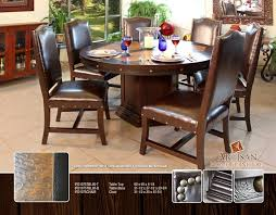 hamshire reclaimed wood 60 inch round dining table kosas home room