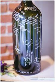 guest book wine bottle alternative wedding guest book ideas