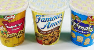 snack cookie cups unwrapping famous amos keebler fudge stripes