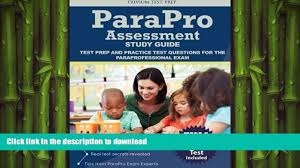 read book parapro assessment study guide test prep and practice