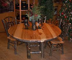 hickory dining room chairs hickory dining table log furniture rustic cabin dinette woodland