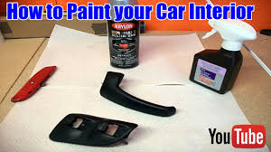 how to paint interior car trim youtube