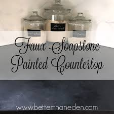 Soapstone Chalk A Faux Soapstone Painted Countertop Better Than Eden