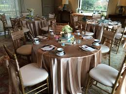 tablecloths rental chagne satin tablecloths napkins and sashes am linen rental