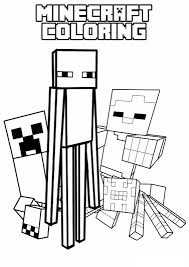drawing inspired minecraft 4 minecraft coloring pages