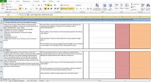 Gap Analysis Template Excel Gap Analysis Template Excel Excel Tmp