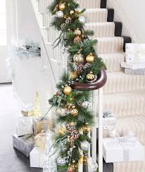 the 25 best christmas decor for stairs ideas on pinterest