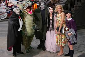 halloween monsters background kathie lee and hoda go retro as regis and kathie lee for