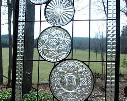 Vintage Transom Windows Inspiration Stained Glass Vintage All Clear Collage Plate Panel Custom