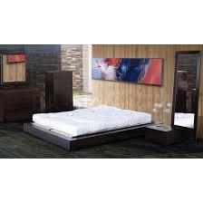 Modern Zen Bedroom by Bedroom Sets Zen 5 Pc Simple Platform Bedroom Set In Espresso Bh