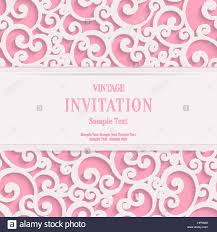 Marrige Invitation Card Vector Swirl Pink 3d Valentines Or Wedding Invitation Cards Stock