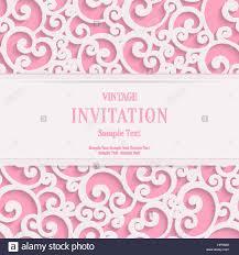 Wedding Invitation Cards Vector Swirl Pink 3d Valentines Or Wedding Invitation Cards Stock