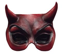 halloween face masks half face mask evil red cat style ears unisex halloween party mask