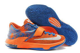 s basketball boots australia cheap s nike kd 7 basketball shoes orange blue white australia