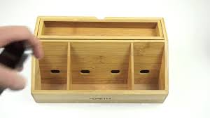 Best Charging Station Organizer Bamboo Charging Station Desk Organizer Storage Review Youtube