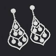 diamond chandelier earrings chandelier earrings 10 11ct 18k gold