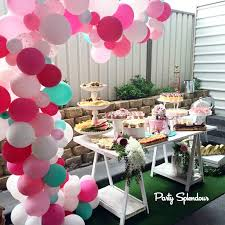 Wall Decoration With Balloons by Balloon Arches Sydney Party Splendourparty Splendour