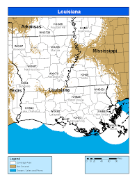 Louisiana Parish Map With Cities by Noaa Weather Radio Louisiana