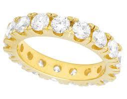 eternity wedding 10k yellow gold real diamond solitaire eternity wedding band ring