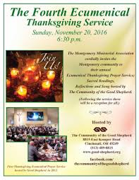 prayer about thanksgiving montgomery faith communities join together for the fourth
