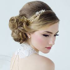 bridal hair accessories uk vintage styled floral bridal headband