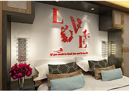 Wall Decals For Dining Room Creative Love Acrylic 3d Wall Stickers Dining Room Background