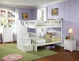 amazon com columbia staircase bunk bed full over full white
