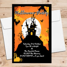 10 personalised haunted house halloween party invitations n8