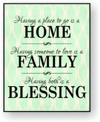 blessing for the home home family blessing mounted print