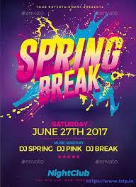 80 best spring break party flyer print templates 2017 frip in