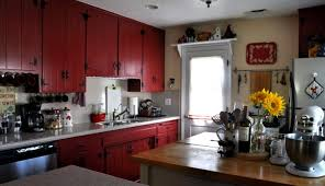 barn red kitchen cabinets amazing value of red kitchen cabinets