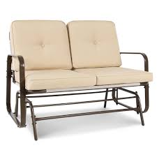 Patio Glider Bench Best Choice Products 2 Person Loveseat Glider Rocking Chair Bench Pati