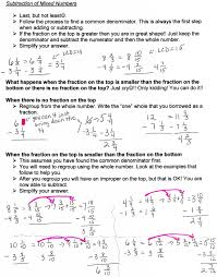 unit 6 addition and subtraction of fractions mrs morelli