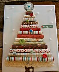 paper christmas tree on canvas