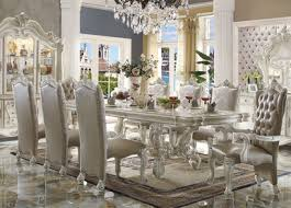 How To Set A Formal Dining Room Table 120 Majestic Formal Antique Bone White Dining Table Set White
