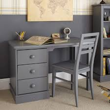 grey desk with drawers children s pedestal desk dark grey aspace