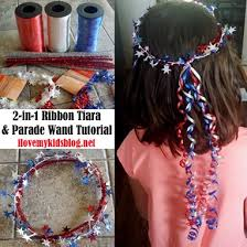 parade ribbon diy 2 in 1 ribbon tiara and parade wand tutorial