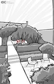 4 garden sketches of popular pins award winning contemporary