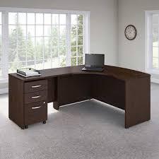 bush series a desk bush series left hand c manager s desk in mocha cherry finish