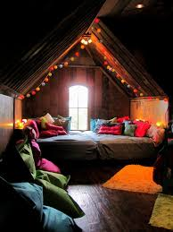 bohemian bunkroom this room is converted attic space the