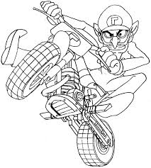 coloring pages of mario kart pages to print sonic and mario