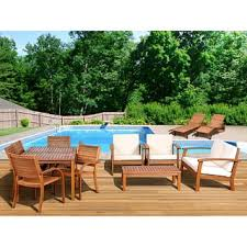 Wooden Outdoor Sofa Sets Wood Outdoor Sofas Chairs U0026 Sectionals Shop The Best Deals For