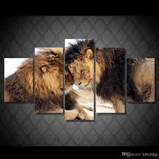 lion print 2017 framed hd printed two lover lion animals picture wall art
