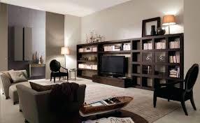 Small Media Cabinet Furniture High Capacity Cherry Oak Veneer Large Multimedia Wall Rack Media