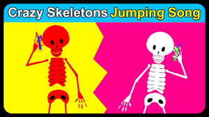 5 crazy skeletons jumping on the bed scary videos for kids