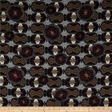 french designer rayon crepe tribal geo maroon black tan discount